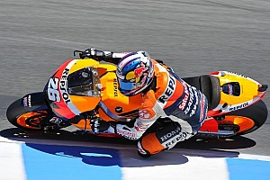 MotoGP Qualifying report Pedrosa sets the early pace in sunny Monterey in Friday's action at Laguna Seca