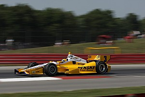 IndyCar Qualifying report Power earns third pole of 2012 with record-breaking time to pace team Penske at Mid-Ohio