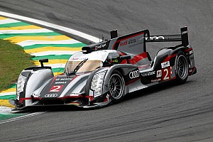 Front row of the Sao Paulo grid for Audi and Lucas di Grassi in Brazil