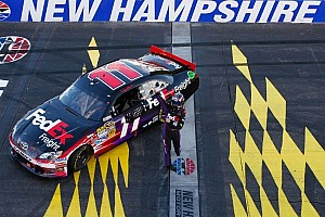 NASCAR Sprint Cup Race report Prediction comes true as Hamlin lands his Toyota in Loudon 300 victory circle