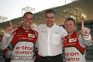 WEC Qualifying report McNish and Fässler hand Audi front row at Bahrain