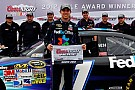Denny Hamlin puts Gibbs Toyota on the pole for Dover 400