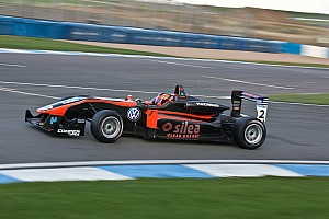 BF3 Race report Fantin finished his British F3 career with a podium at Donington