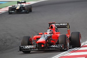 Formula 1 Race report Marussia challenged KERS-powered competition on Korean GP