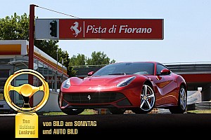 The Ferrari F12berlinetta wins the 2012 Auto Bild Goldenes Lenkrad Award