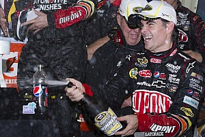 NASCAR Sprint Cup Race report Gordon puts Hendrick in victory lane while Johnson in the garage at Homestead 400