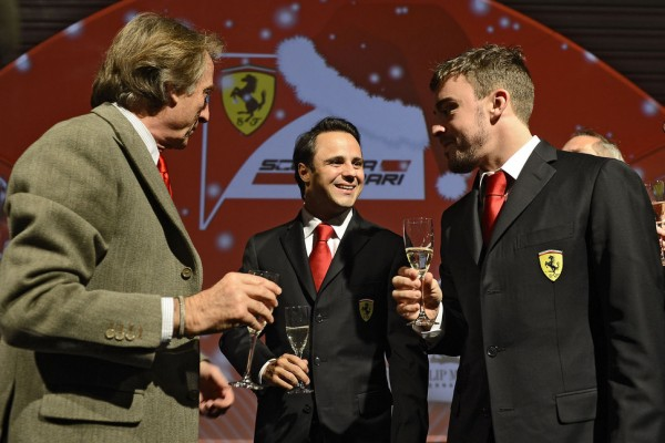 Ferrari final year party at Maranello - video
