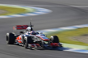 McLaren's Button works on longer runs on Jerez testing day three