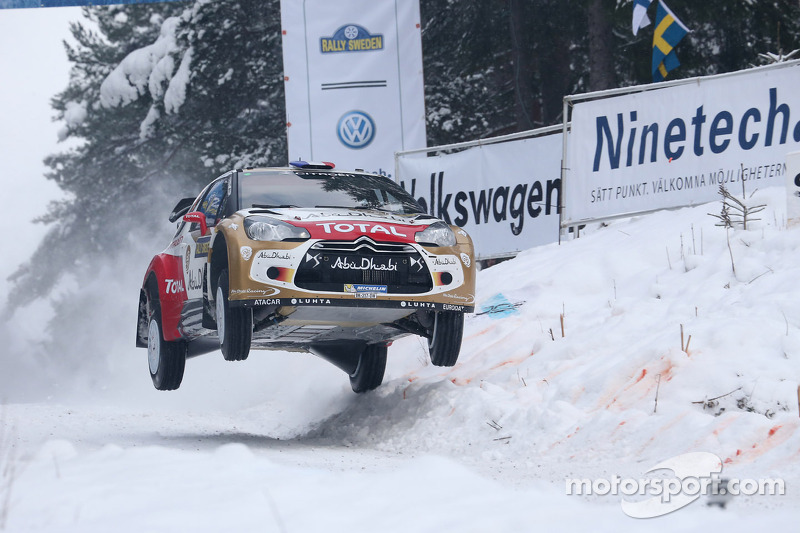Citroen's Loeb keeps up the pressure on leg two of Rally Sweden