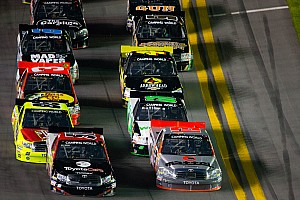 NASCAR Truck Race report Last-lap caution spoils Kyle Busch's bid for first Daytona win
