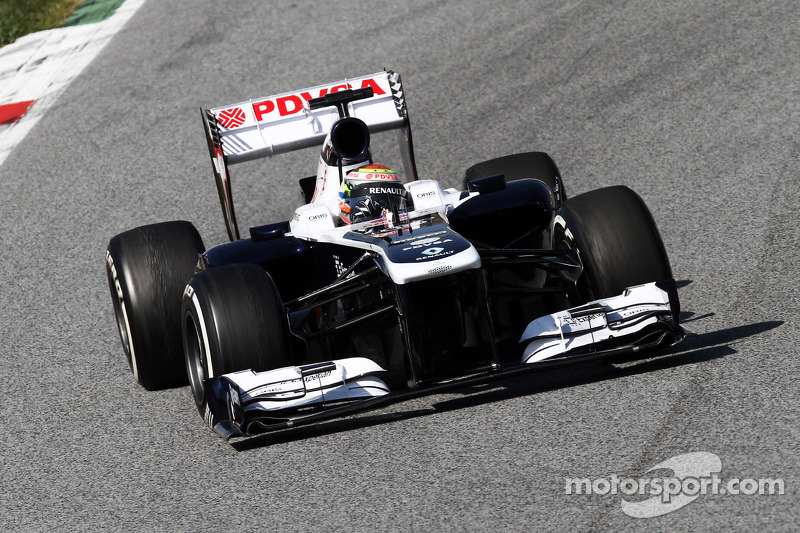 Williams still improving performance in the winter tests in Barcelona