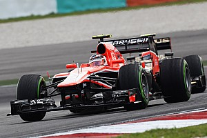 Formula 1 Practice report Marussia F1 completes practice at Sepang