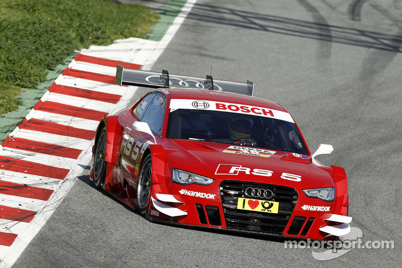 Important test for the Audi RS 5 DTM in Barceleona