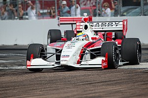 Indy Lights Race report Chaves makes return visit to podium at Long Beach