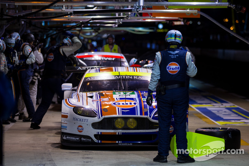 Aston Martin leads Le Mans at sixteen-hour mark