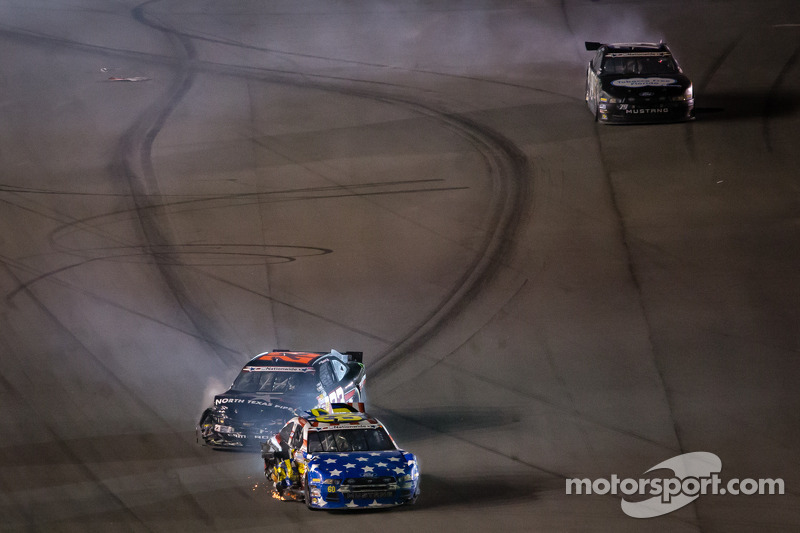 Pastrana finishes 34th in Daytona after being collected in a late-race accident