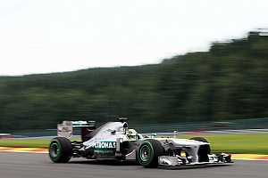 Mercedes tested new parts on Friday practice for Belgian GP