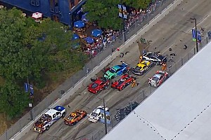 ALMS Breaking news Massive pile up shortens Baltimore ALMS race