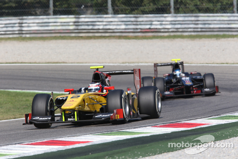 The first chicane of Monza ruin the Richelmi's race after a great start