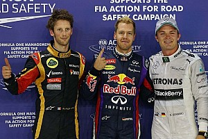 Vettel races to Singapore GP pole ahead of fellow German Rosberg