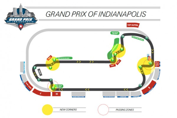 Brand new layout for Grand Prix of Indianapolis