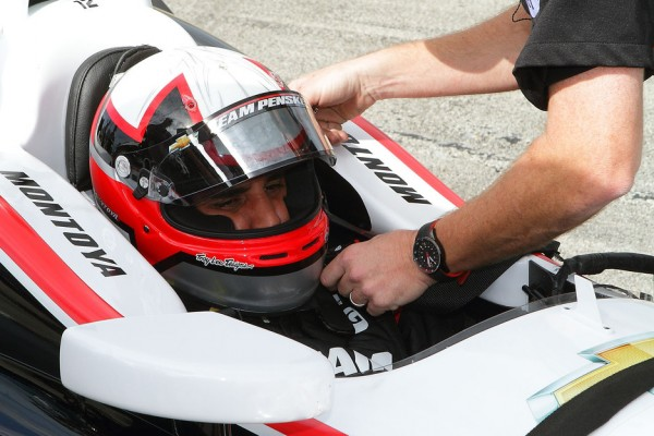 Montoya enjoys first oval track tests for Team Penske