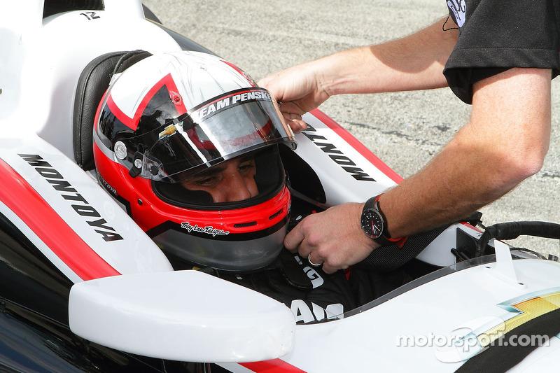 Montoya enjoys first oval track tests for Team Penske