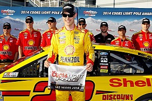 NASCAR Sprint Cup Qualifying report Penske sweeps front row again