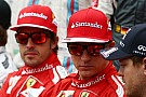 Alonso 'very happy' to share Ferrari with Raikkonen