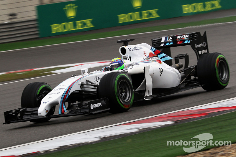 3rd and 4th rows for Williams Martini drivers after qualifying at Shanghai