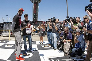 NASCAR Sprint Cup Special feature Redskins QB RG3 and the unusual way he became tonight's pace car driver
