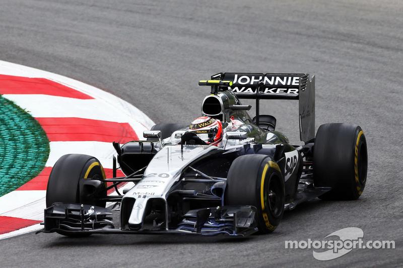 A solid start in the Austrian GP for McLaren's Magnussen