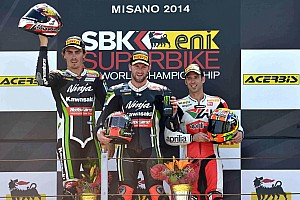 World Superbike Race report Sykes wins opening WSBK race in Misano from team mate Baz
