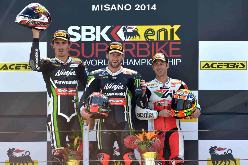 Sykes wins opening WSBK race in Misano from team mate Baz