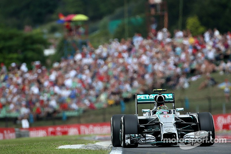 Mercedes' Rosberg took his sixth pole position of the season at the Hungaroring
