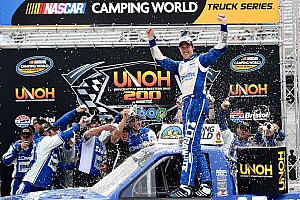 NASCAR Truck Race report Keselowski finally breaks into Truck Series win column