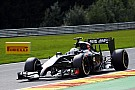 Just Sutil's car not fail on Sauber free practice for the Belgian GP