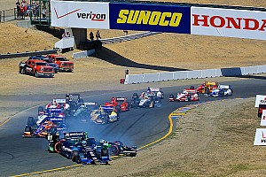IndyCar Breaking news Castroneves involved in opening lap crash at Sonoma