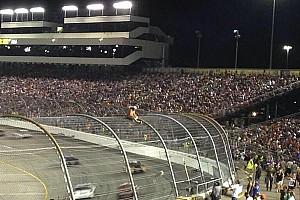 Crazy fan climbs fence in Cup race at Richmond