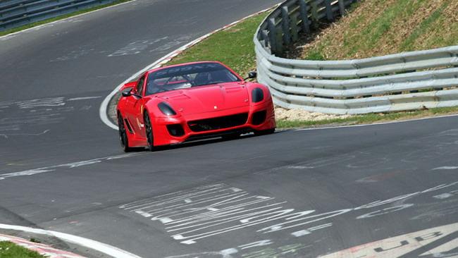 La Ferrari 599XX sotto il muro dei 7 minuti al Ring