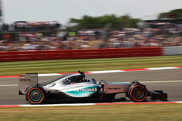 British GP: Rosberg fastest again from Raikkonen in second practice