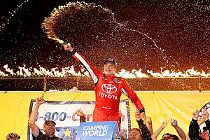 NASCAR Truck Race report Bell wins third annual MudSummer Classic in third Truck start