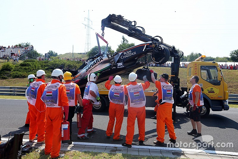 Force India no estará en la segunda práctica tras el accidente de Pérez