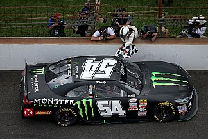 Race winner Kyle Busch goes to infield medical center