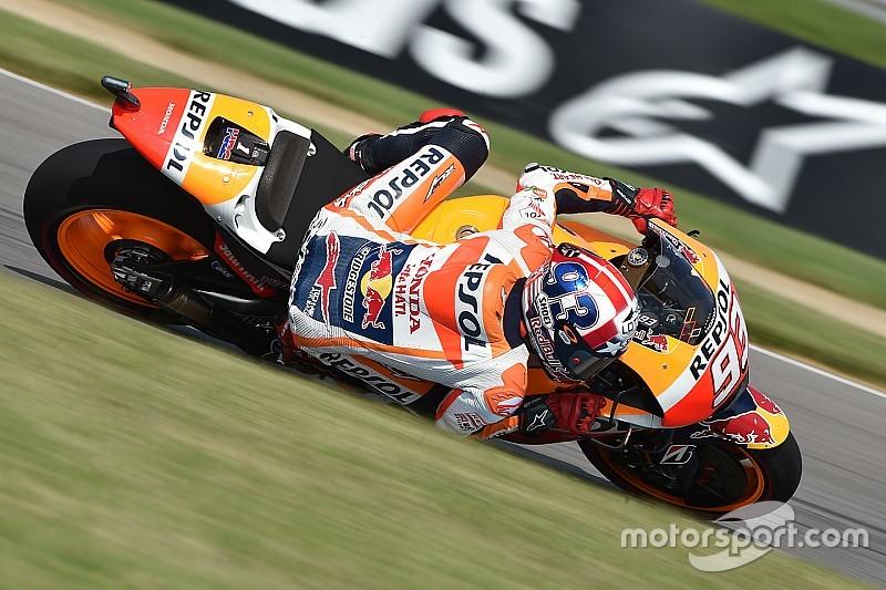 Brno MotoGP: Marquez beats Lorenzo, then crashes