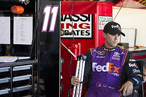 NASCAR Sprint Cup Breaking news Hamlin doesn't feel injury will hurt on-track performance