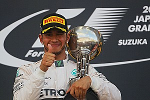 Formula 1 Race report Japanese GP: Hamilton squeezes out Rosberg to score eighth win of 2015