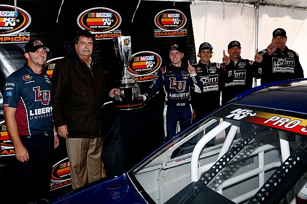 William Byron is heading to Trucks after winning K&N East championship