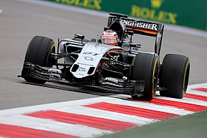 Russian GP: Hulkenberg tops FP1 as diesel spill curtails running
