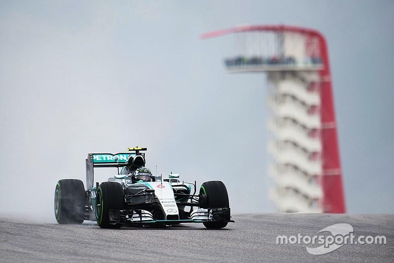 GP USA: Nico Rosberg im verregneten 1. Training voran